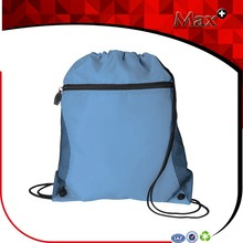Max+ Wholesale Cheap Nylon Mesh Drawstring Bag Portable and Customized Nylon Drawstring Bag With Outside Pocket