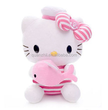 adorable plush pink cat toy, promotional cute cat stuffed toy
