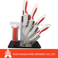 Top Selling Latest Design Fancy Shape Customized White Colored Ceramic Knife Set