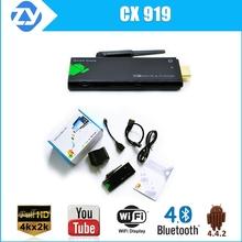 RK3188t Quad Core TV Stick CX919 with Android 4.4 2G /8G memory WIFI Bluetooth full hd dvb t2 mini pc XBMC KDOI IPTV installed