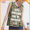 Custom Sleeveless T shirt For Sweet Teen Girls ,Fruit Of The Loom T shirt