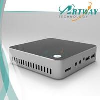 New Super Quiet and Cheap Mini HTPC Computer Windows8.1 Mini PC 1080p 4*USB, 1*Display port, Fanless, Metal Case, WiFi,