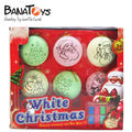 colorido decorativos de plástico bola de navidad ornamento