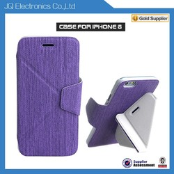China Manufacturer folding stand cover funky mobile phone case for Apple Iphone 6 6 plus