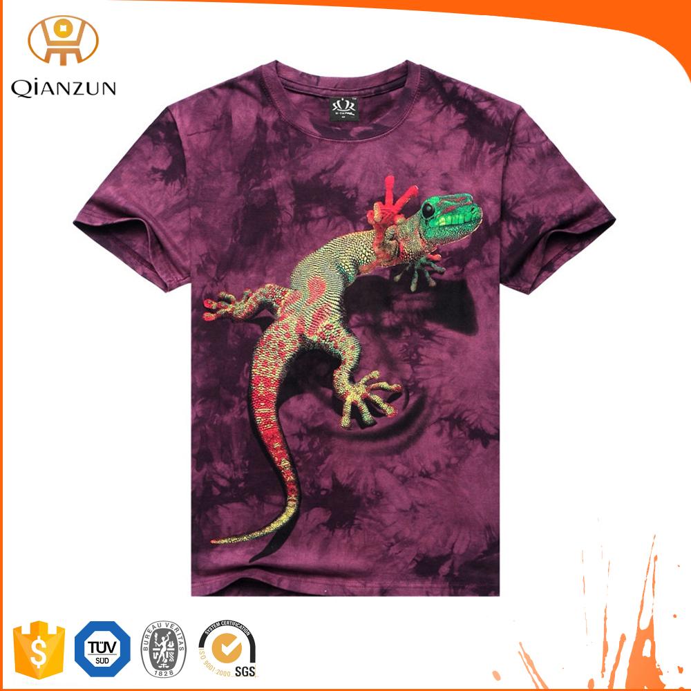 2015 qianzun custom tie dye 3d printing t shirt men buy for Custom tie dye t shirts