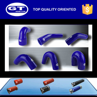 woven polyester silicone hose/large diameter silicone tube/high temperature fuel resistant silicone radiator hose
