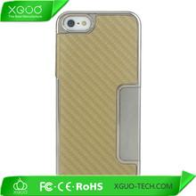 aluminum chrome design for carbon fiber iphone case
