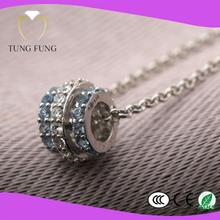 factory directly selling mosaic Zircon Rhodium Plated vintage pendants