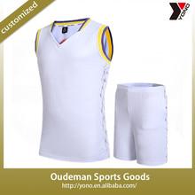 2015 Wholesale men latest basketball jersey design custom basketball uniform design