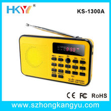 portable digtal usb mini fm shortwave radio with sd/tf card slot