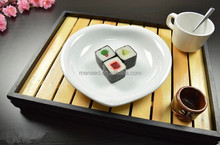 5 star hotel white heart shaped decorative melamine plastic sushi plates for sale