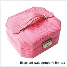 Portable cosmetic box jewelry suitcase from guangdong manufacturer