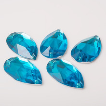 Wholesale resin raindrop tear drop beads blue color teardrop 16*28mm