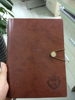 office & school supplies leather custom notebook