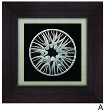 The silver core Abstract Wall Decoration Shadow Box wall art