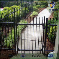High security decorative steel fence for home garden