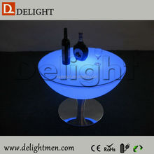 Outdoor furniture hot sale ip65 glowing 16 colors wireless control led lighting bar table for bar