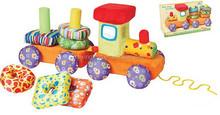 Intelligence DIY Stuffed & Plush Train&Trailer Sets Animal Baby Kids Toys