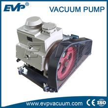 Two stage medical rotary vane vacuum pump with oil lubrication