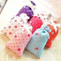 Flower aromatherapy air freshing cloth bags fragrant sachet essential oil gift for car/bag/wardrobe/drawer/cloth