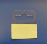 PVC PET PP plastic hang tabs, 45*50mm adhesive packaging hookers