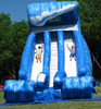 Lage used inflatable double lane slip slide for sale M4003