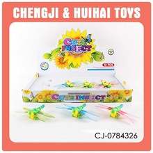 12pcs cute cartoon dragonfly kid promotion wind up toy wholesale mini toy playset
