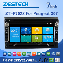 professional Factory car dvd player back seat For PEUGEOT 307 car dvd player with gps navigation radio multimedia