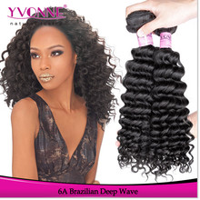 Deep wave human hair styles, wholesale price grade 6a brazilian hair weave