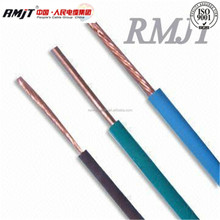 1.5mm 2.5mm 4mm 6mm copper/aluminum conductor PVC insulated electrical wire