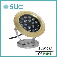 Hot sell 23W ip68 multi color led swimming pool light/waterproof led light for swimming pool(SLW-08A)