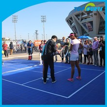 High quality outdoor portable tennis court sports floor