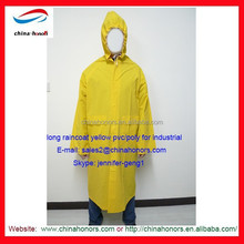 rain coat/pvc vinyl/poly rain coat yellow