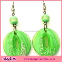 New coming fashion lucite glitter dangle for women earring