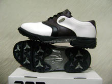 fashion stylish black white golf club sport shoes have spike for men women business activities