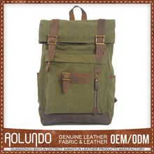 High Quality Custom Fitted Cotton Canvas Backpack Laptop Bags