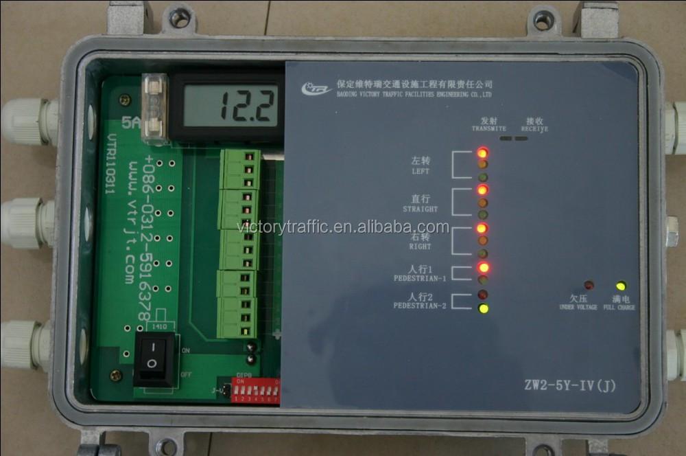 Sem fio inteligente Solar controlador luz sinal de trânsito