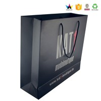 Flat Handles Paper Bags Recycle Paper Bag Junye Shopping Bag