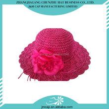 Great material straw summer hats for a newborn crochet