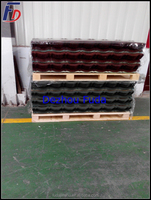 roof tiles import to Portugal colorful stone coated metal roofing