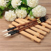3pcs/set Top Quality Chinese Calligraphy Brushes Pen for Woolen and Weasel Hair Writing Brush Fit For Student School