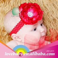 Wholesale promotional cherry infant baby handmade flower knit headband