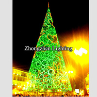 ce IP44 hot sell led light up artificial christmas trees with led lights