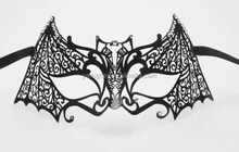 mysterious sexy toy product party custom filigree black metal mask
