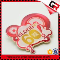 China professional factory metal custom engraved badge lapel pin maker