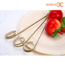 Ring rotating BBQ and fruit bamboo skewer /pick