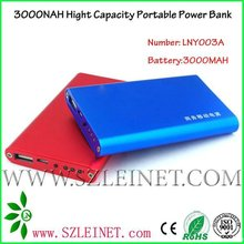 2012 New Products 3000MAH High Capacity portable power charger for ipad