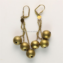 Metal Free Seed Bead Beads Gold Hanging Earring Designs Jewelry