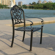 American French Style cast iron metal Aluminum Dining garden chair