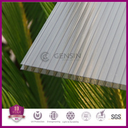 China manufacturer 4mm/6mm/8mm/10mm twin-wall polycarbonate sheet/pc roofing material/pc awning